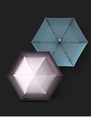 Ультратонкий элитный зонт, 6 спиц  (OLYCAT) с зеркальным блеском (пудровый)
