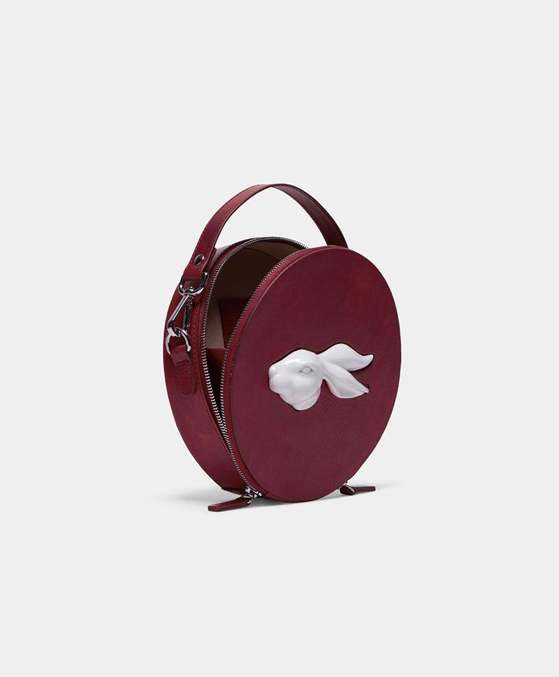 Сумка круглая Rabbit Burgundy