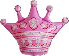 К Фигура, Корона, Розовый, 30''/76 см 1 шт.