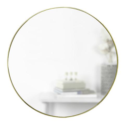 Зеркало настенное HUBBA D86 см латунь