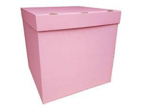 Коробка для воздушных шаров с персональным оформлением розовая