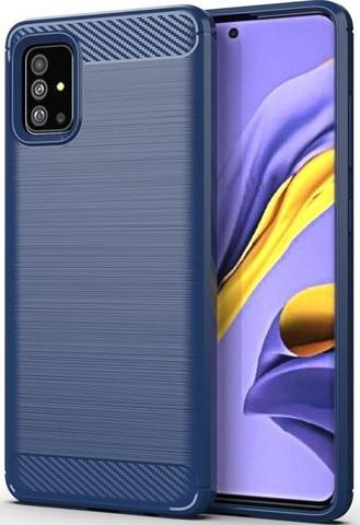 Чехол Carbon для Samsung Galaxy A51/M40S серия Карбон | синий