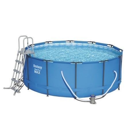 Каркасный бассейн Bestway 15427 (366х133 см) с картриджным фильтром и лестницей / 18384