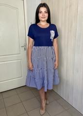 Хелена. Стильна літня жіноча сукня. Синій