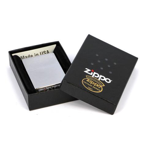 Зажигалка Zippo с покрытием Herringbone Sweep, латунь/сталь, серебристая, матовая, 36x12x56