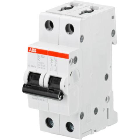 Автоматический выключатель 2-полюсный 0,5 А, тип K, 10 кА S202M K0.5. ABB. 2CDS272001R0157