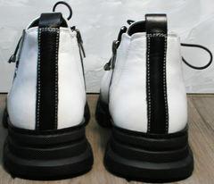 Женские кожаные ботинки осень Ripka 146White