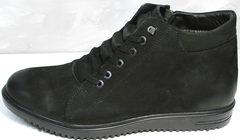 Теплые ботинки на зиму мужские Luciano Bellini 71783 Black.
