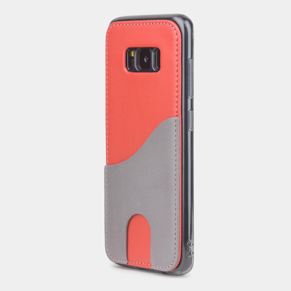 Чехол-накладка Andre для Samsung S8 Plus из натуральной кожи теленка, кораллового цвета