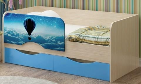 Детская кровать Юниор-12 МДФ Шар, 80х160