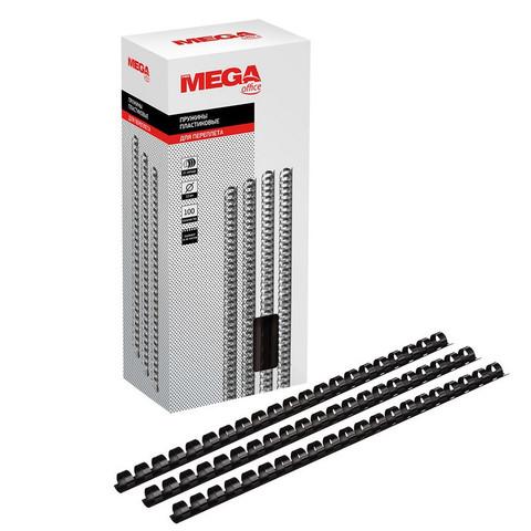 Пружины для переплета пластиковые Promega office 12 мм черные (100 штук в упаковке)