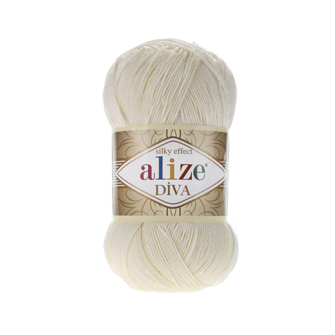 Пряжа Alize Diva 383 молочно-бежевый