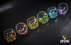 Набор из 6 цветных стопок Crazy, 60 мл, фото 1