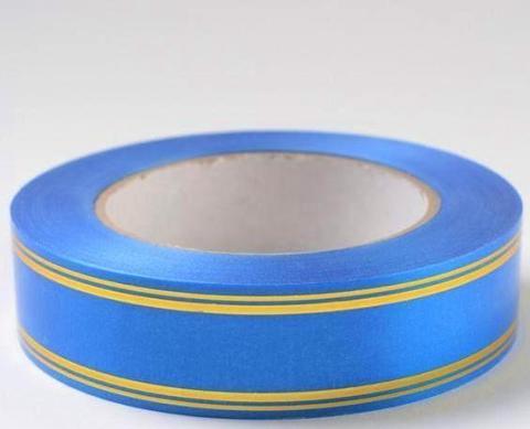 Лента золотая полоса PL (размер: 2 см х 50 ярдов) Цвет: синий