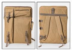 Сумка-рюкзак трансформер для художественных принадлежностей, светло-коричневый цвет