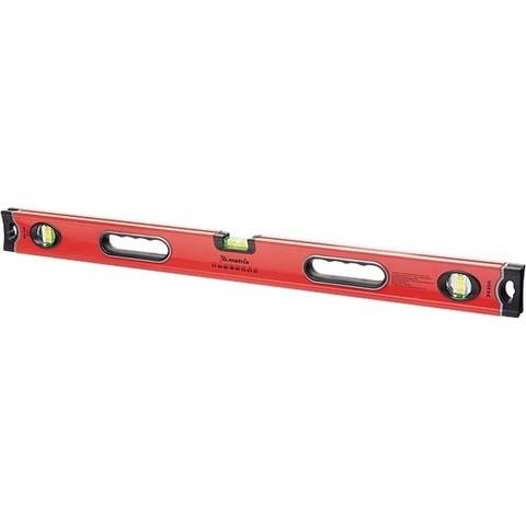 Уровень алюминиевый, 1000 мм, 3 глазка, ударопрочные заглушки, двухкомпонентные ручки Matrix ProFI