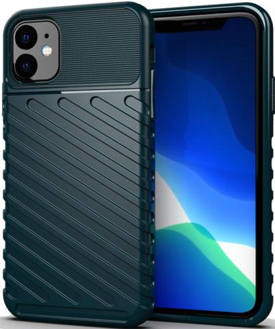 Чехол Carbon для iPhone 11 серия Оникс | зеленый