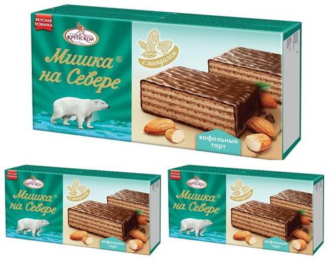 Торт вафельный Мишка на Севере - фабрика Крупской 230 гр