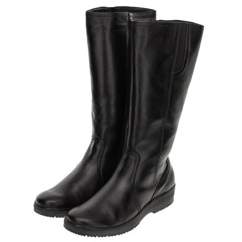 562559 сапоги женские черные. КупиРазмер — обувь больших размеров марки Делфино