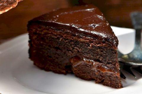 Черный Шоколадный торт без глютена