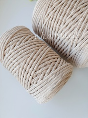 Крем брюле Хлопковый шнур 4 мм