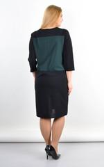 Єсенія. Оригінальне плаття великих розмірів. Смарагд.