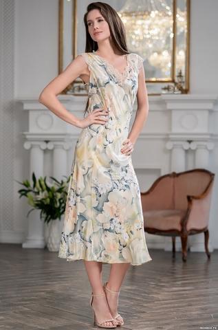Длинная шелковая сорочка Mia Amore Лучиана (70% натуральный