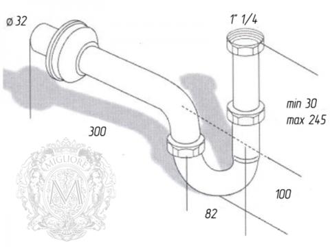 Сифон для раковины  Migliore Ricambi  ML.RIC-10.101 схема