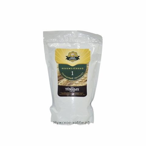 Неохмеленный солодовый экстракт Своя кружка Темное, 1 кг