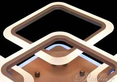 Потолочная LED-люстра с пультом, диммером и подсветкой, 125W