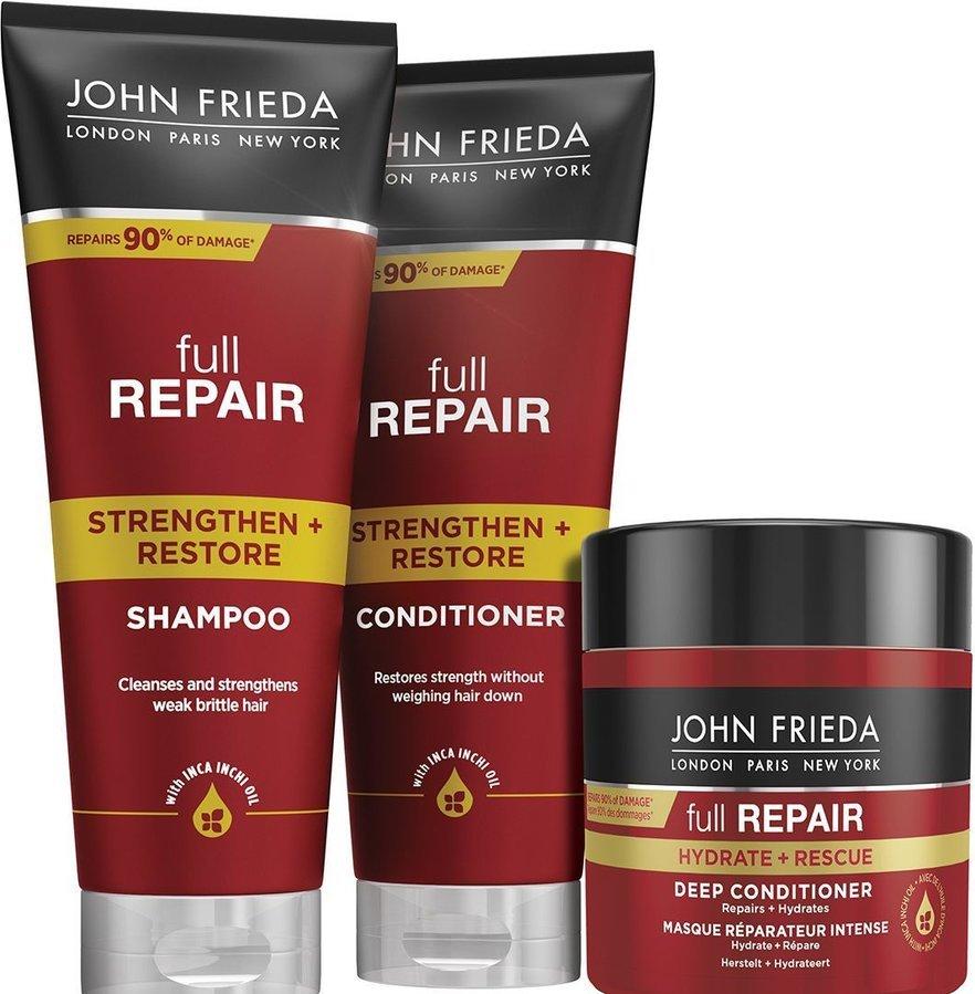 John Frieda Full Repair укрепляющий восстанавливающий шампунь 250мл
