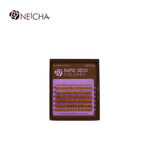 Ресницы NEICHA нейша с блестками MIX 6 линий (Золотые блестки)