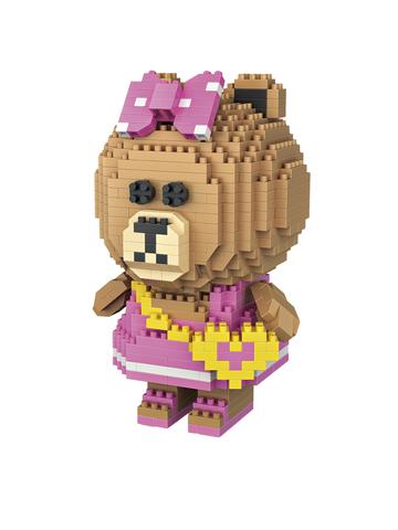 Конструктор LOZ Медведица в платье 650 деталей NO. 9760 Bear in dress iBlockFun Series