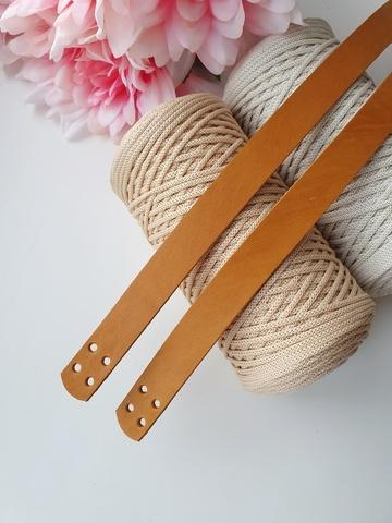 Ручки для сумок пришивные (2 шт)  60 см цвет Песочный
