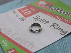 Кольцо заводное Mottomo Split Ring 8мм/20кг 10 шт.