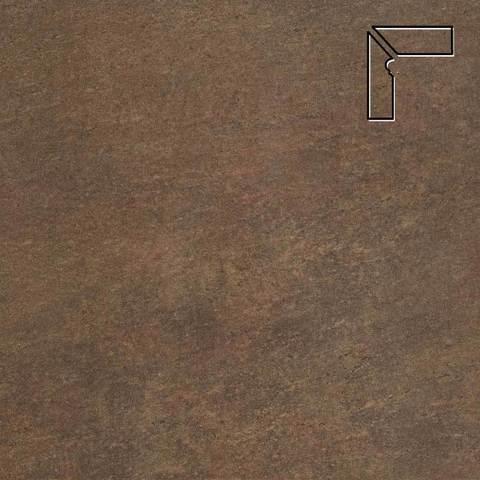 Stroeher - Keraplatte Asar 640 maro длина стороны угла 290 артикул 9117 - Плинтус клинкерной ступени левый