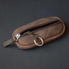 Ключниця на блискавці, шкіра Crazy Horse