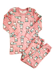 24D-7 пижама детская, розовая
