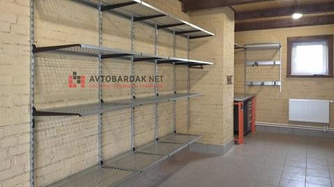 Проект № 29: гараж 38,4 кв.м, обустройство стены 10,2 м полками и рабочей зоной