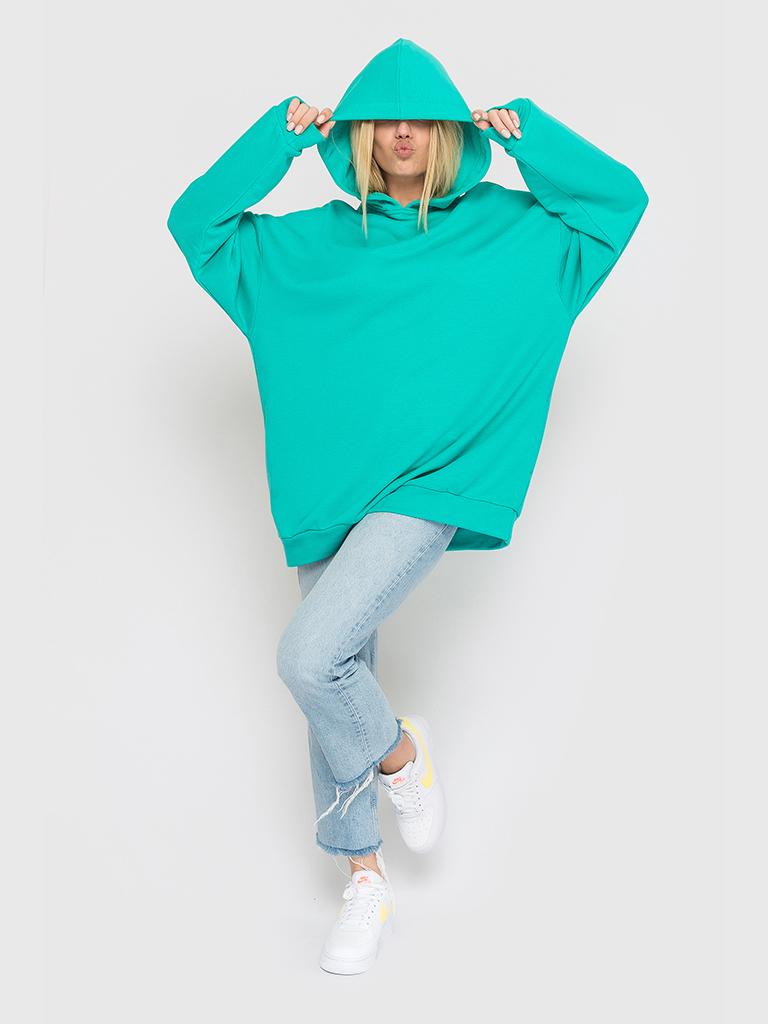 Худи трикотажное ментоловое YOS от украинского бренда Your Own Style