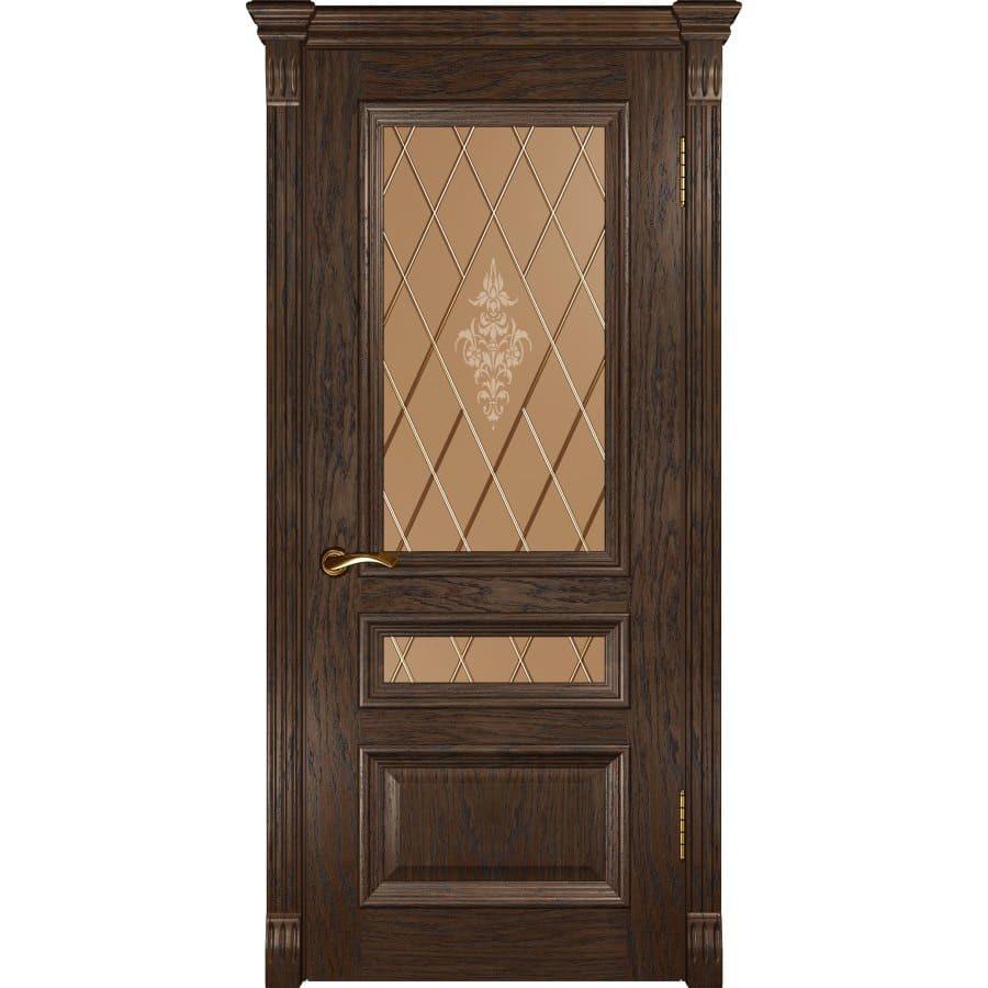 Шпонированные двери классика Межкомнатная дверь шпон Luxor Фараон 2 дуб морёный остеклённая faraon-2-do-dub-moreniy-dvertsov.jpg