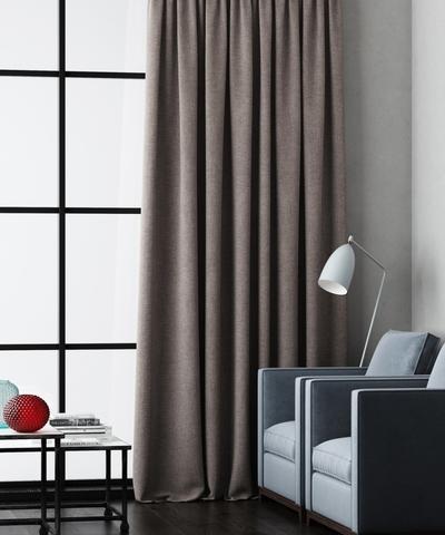 Готовая штора Калипсо серо-коричневый