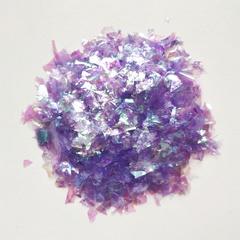 Слюда блестки для слайма фиолетовый жемчуг