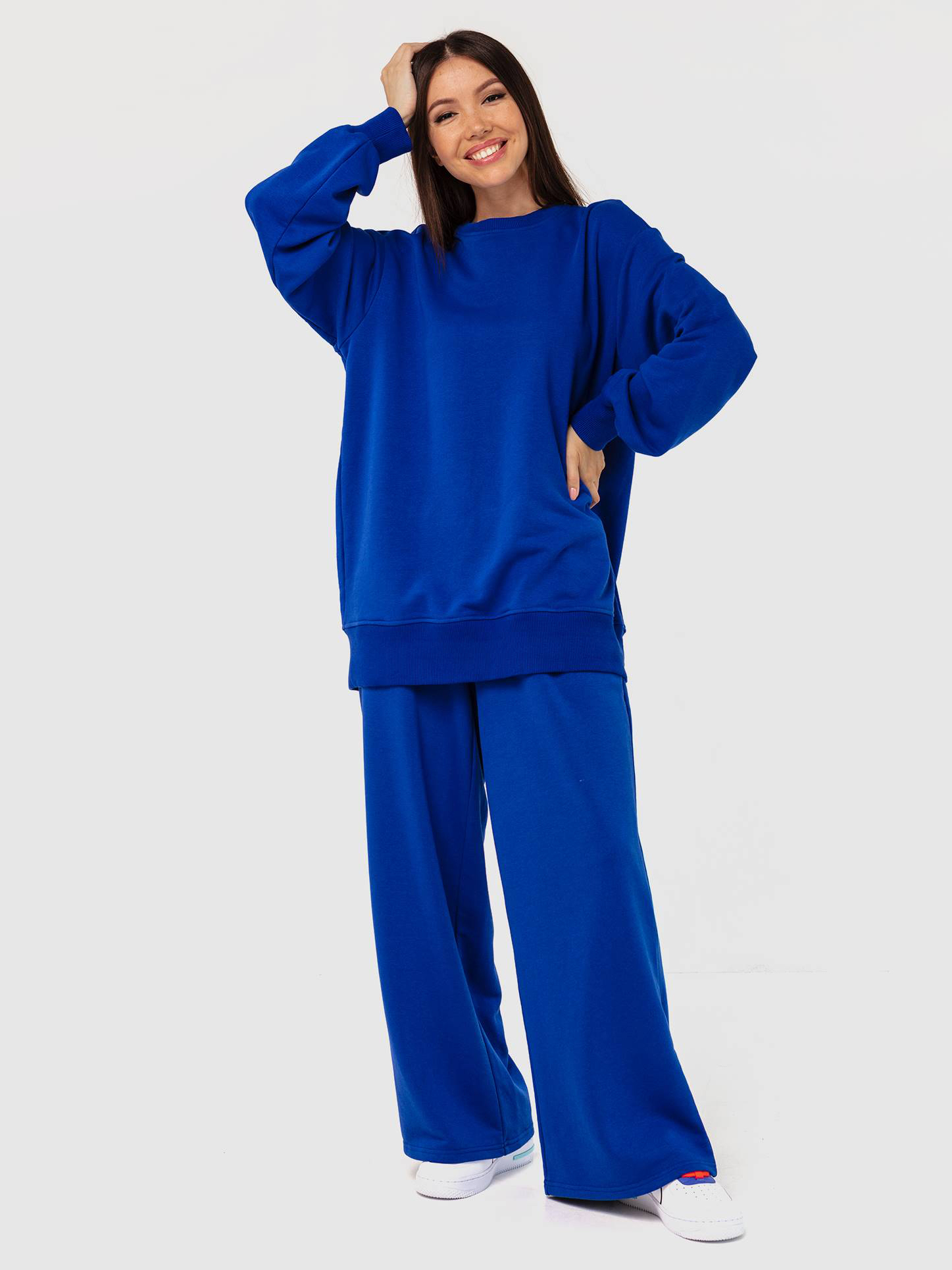 Свитшот трикотажный синий YOS от украинского бренда Your Own Style