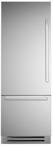 Встраиваемый двухкамерный холодильник Bertazzoni REF75PIXL
