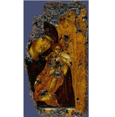 Икона Божией Матери Византия на дереве на левкасе мастерская Иконный Дом