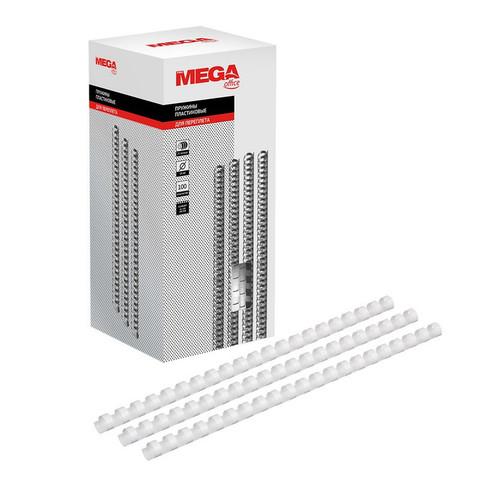 Пружины для переплета пластиковые Promega office 14 мм белые (100 штук в упаковке)