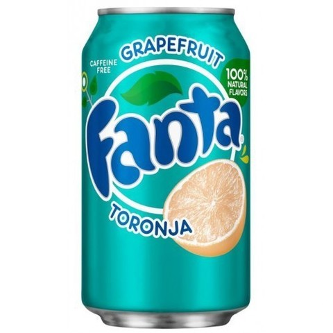 Fanta Toronja Фанта Грейпфрут 0,355 л