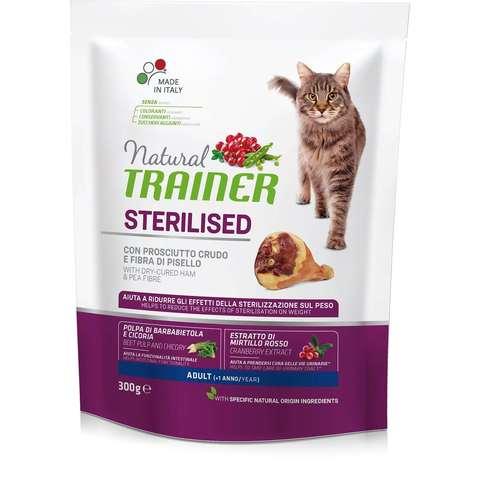Сухой корм для стерилизованных кошек TRAINER с ветчиной, с горошком