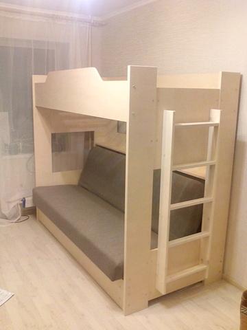 Детская 2-х ярусная кровать с диваном Боровичи